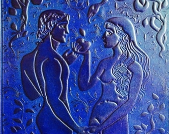 The lost book of Adam and Eve Handmade Leather Guestbook/Journal/Sketchbook/Diary
