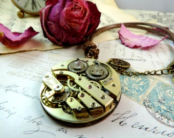 Necklace steampunk, mechanism, basic