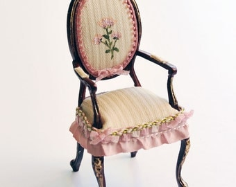 Hand Painted Chair. 1:12 Scale.