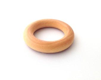 Organic Maple Teething Ring, Teething Ring, Single Teething Ring