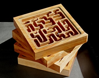 Mini Marble Maze Wooden Coasters
