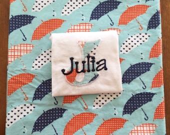 Personalized Pajama Sets Umbrella Pattern