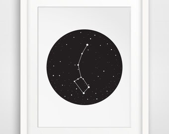 Outer Space Decor, Constellation, Ursa Minor, Outer Space Printable, Constellation Prints, Space Prints, Little Dipper Poster, Boys Art