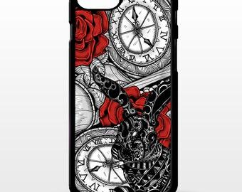 Alice in wonderland fine art white rabbit pocket watch vintage art rubber gel cover for iphone 6 phone case