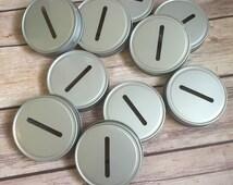 Mason Jar Coin Slot Lids - Mason Jar Piggy Bank