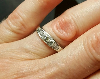 14K White Gold Diamond Ring. Free U.S. Shipping. International Charges May Vary.