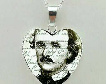 Edgar Allan Poe Pendant Necklace