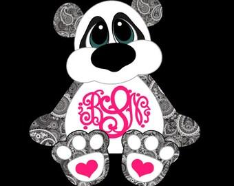 Panda monogram decal
