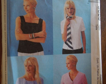 McCalls 3668, size 10-14, tops, misses, womens, teens, UNCUT sewing pattern, craft supplies