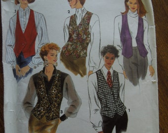 Simplicity 8029, sizes 6-10, UNCUT sewing pattern, craft supplies, lined vests