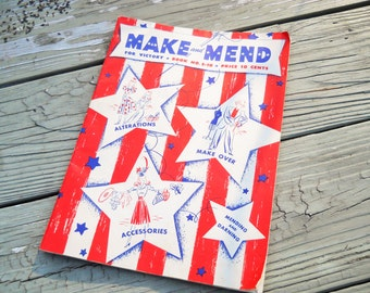 1942  WWII Make and Mend For Victory Book No. S-10