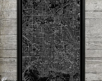 Map of ST. PETERSBURG Print, Wall Decor for your Home or Office
