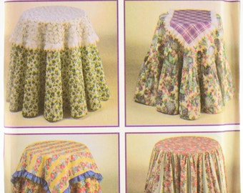 Simplicity Pattern 9251 Table Covers, Toppers, and Runners, One Size UNCUT
