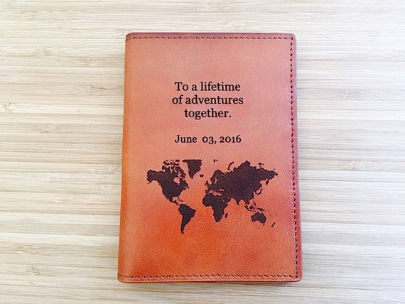 Leather travel wallet personalized multiple passport cover like this item gumiabroncs Choice Image