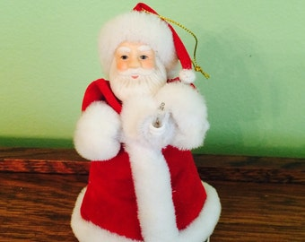 Vintage Christmas Holiday Santa Ornament Light