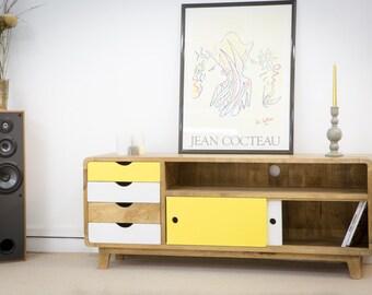 TV Scandinavian-inspired 4 drawers 2 doors