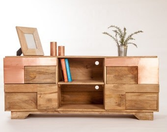 Design TV copper wood