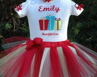 Christmas tutu,Christmas dress,girls Christmas tutu,baby Christmas tutu,first Christmas tutu,Christmas outfit,baby Christmas set,personalize