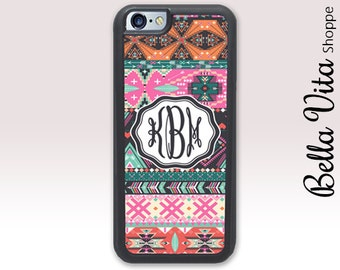 Pink Hipster Aztec iPhone 6 Case, Monogrammed iPhone 6S Case, Personalized iPhone Case 1122 I6S