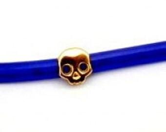 Metal Regaliz Skull Motif Gold