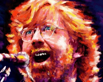 Phish Art, Trey Anastasio Painting, Trey Print Original Art Print