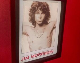 "NEW Vintage Jim Morrison Shirt Framed! 11"" x 14"" Black Wood Inset Frame~The Doors Rock n Roll Music Wearable ART!"