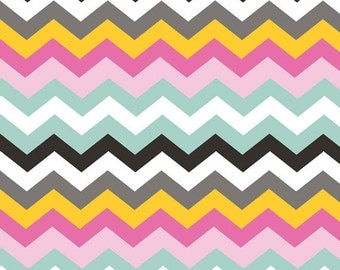 Half Yard Luckie - Durango in Pink - Chevrons Cotton Quilt Fabric - by Maude Asbury for Blend Fabrics - 101.115.03.2 (W3458)
