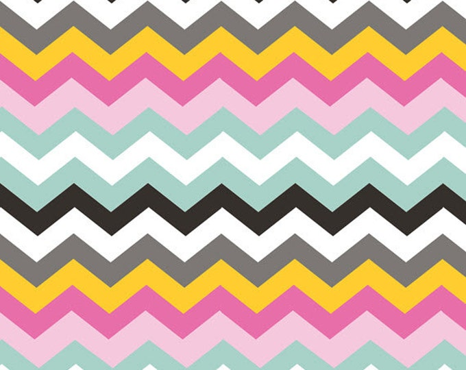One Yard Luckie - Durango in Pink - Chevrons Cotton Quilt Fabric - by Maude Asbury for Blend Fabrics - 101.115.03.2 (W3458)