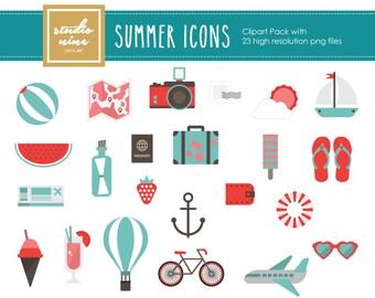 Summer Clipart Set