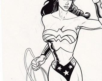 Original Drawing of Wonder Woman