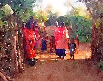 Maasai in Boma