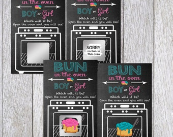 Bun in the Oven Gender Reveal Scratch off Ticket Game