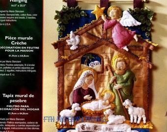 Bucilla Nativity Manger ~ Felt Christmas Wall Hanging Kit #85331 Baby Jesus 2014 DIY