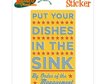 Dishes in the Sink Management Sticker - #64719