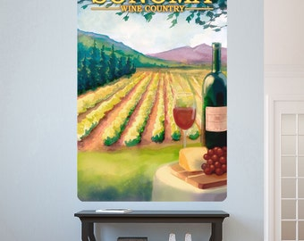 Sonoma Wine Vineyard California Wall Decal - #60758