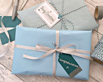 Gift wrap add-on service for Snug Creations