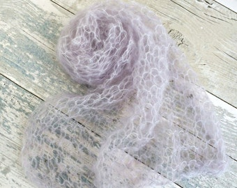 Knit Swaddle Blanket, Newborn Swaddle Wrap, Mohair Newborn Photo Props, Knit Baby Stretch Wrap, Newborn Photography Props, Gender Neutral