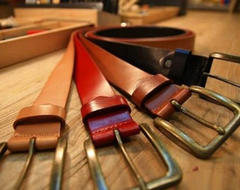 tanned leather belt