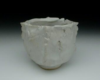 White glazed yunomi