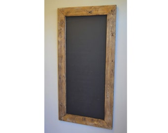 """Two Large Rustic Framed Chalkboards 48x24"""", Fall Wedding, Christmas Gift, Rustic Wedding, Menu Board, Gift for Her, Playroom, Holiday Decor"""