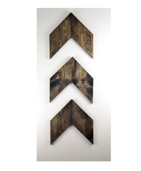 LARGE Rustic Wood Arrows Set of 3, Wall Arrows, Chevron, Gallery Wall, Valentine's Day Gift, Arrow Decor,Rustic Nursery, Woodland Nursery