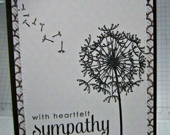 With Heartfelt Sympathy... Greeting  Card...