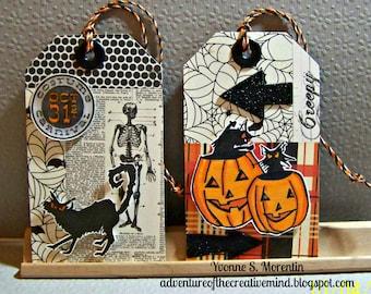 Large Halloween Tags... Bundle Of 6...