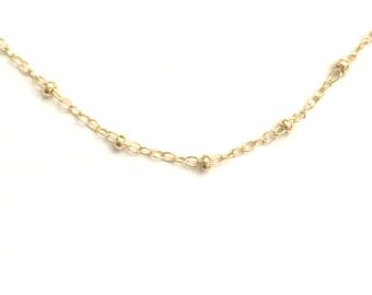 Satellite Chain Upgrade, Gold Filled chain Upgrade, Dew Drops, Sterling Satellite Chain upgrade