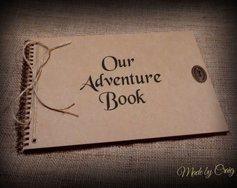 A4 A5 Our/My Adventure Scrapbook, Photo Album, Journal/Diary Personalised, White/Brown/Black/Kraft Pages, Gift Idea, From Up, Disney