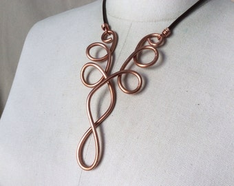 Copper Bib Necklace