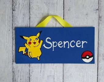 Pokemon Pikachu Kids Room Sign