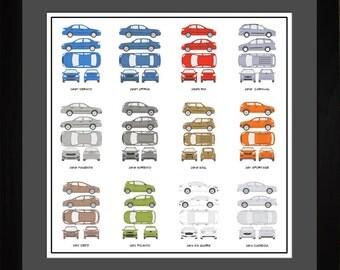 Kia Auto Collection Drawing Art Car Sorento Sportage Soul Gift AKIAO1616