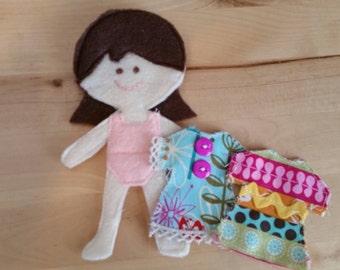 Jane Felt Paper Doll