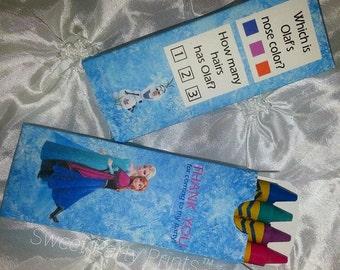 Frozen Crayon Favor ( SKU# FCB001 )